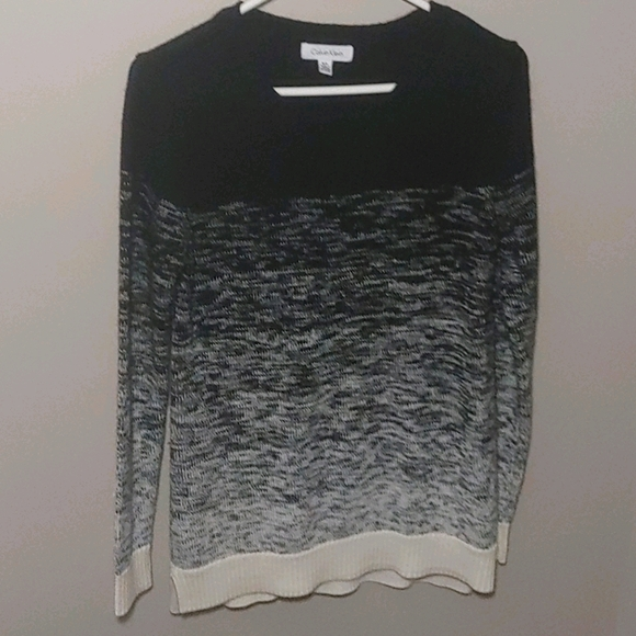 Ladies size S long knit sweater